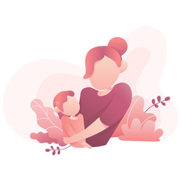 День матери иллюстрация Premium векторы