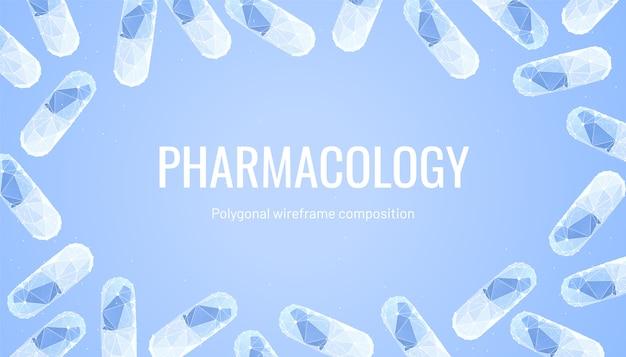 薬と薬理学の背景 Premiumベクター