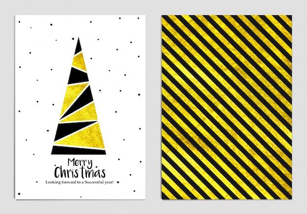 Рождественская открытка Premium векторы