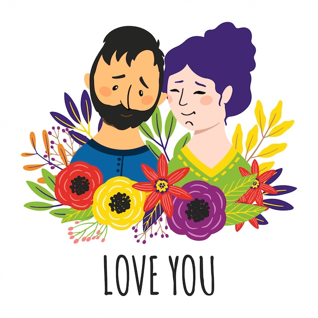 愛のカップル Premiumベクター
