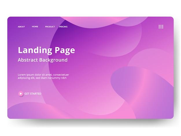 Целевая страница или веб-шаблон в современном абстрактном дизайне Premium векторы