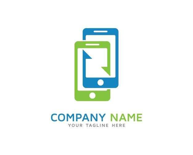 モバイル同期ロゴデザイン Premiumベクター