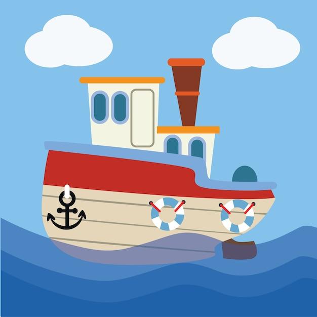 Картинки пароходика для детей