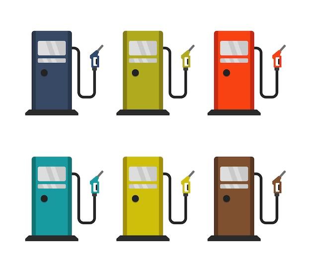 ガソリンスタンドセット Premiumベクター