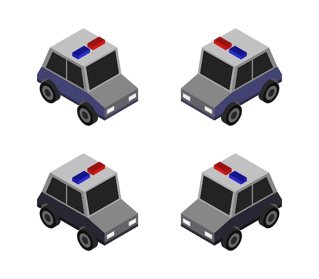 Полицейский джип Premium векторы