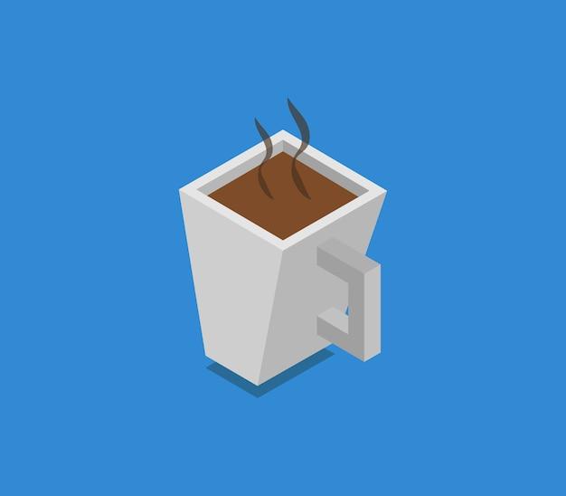 Изометрическая кофейная чашка Premium векторы