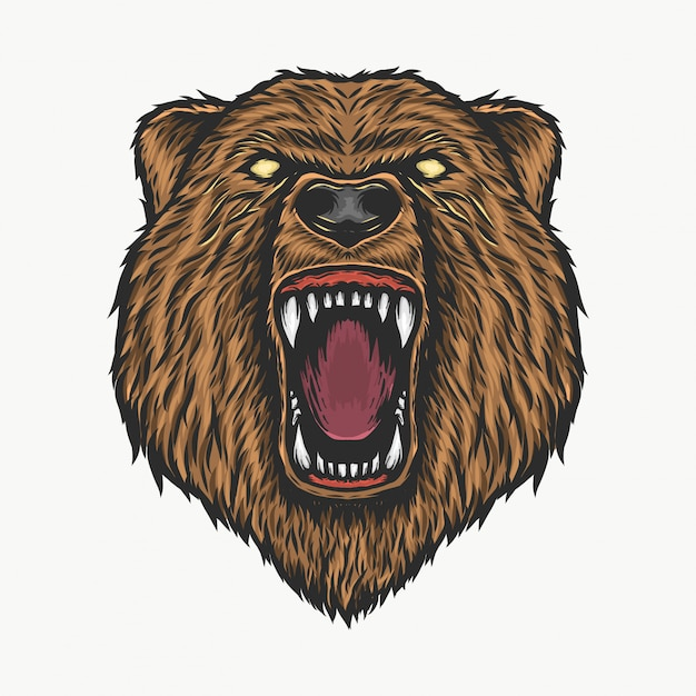 картинка голова медведя за кустом если