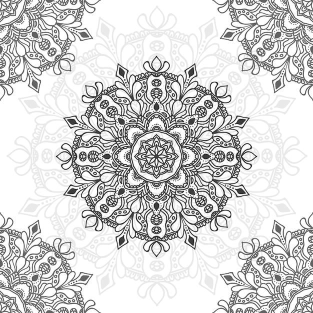 Иллюстрация цветка мандалы для многоцелевой Premium векторы