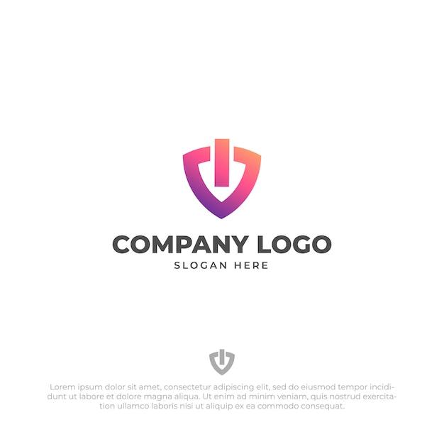 Шаблон дизайна логотипа технической безопасности Premium векторы