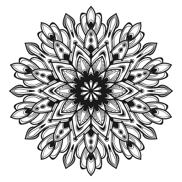 マンダラの花のイラスト Premiumベクター