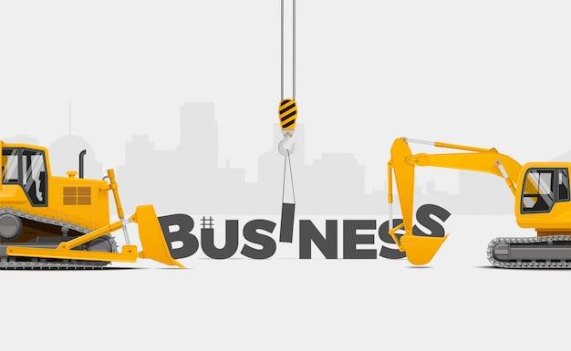 あなたのビジネスを構築します。 Premiumベクター