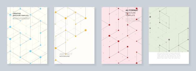 Минимальные шаблоны для флаера, листовки, брошюры, отчета, презентации. Premium векторы
