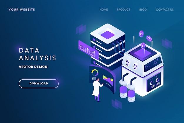 Иллюстрация анализа данных Premium векторы