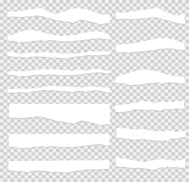 破れた紙セットベクトル、層状。 Premiumベクター