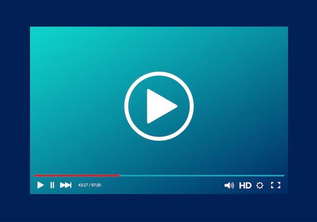 Шаблон панели видеоплеера Premium векторы