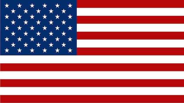 Американский флаг на плоском стиле Premium векторы