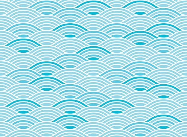 水波のシームレスパターン Premiumベクター