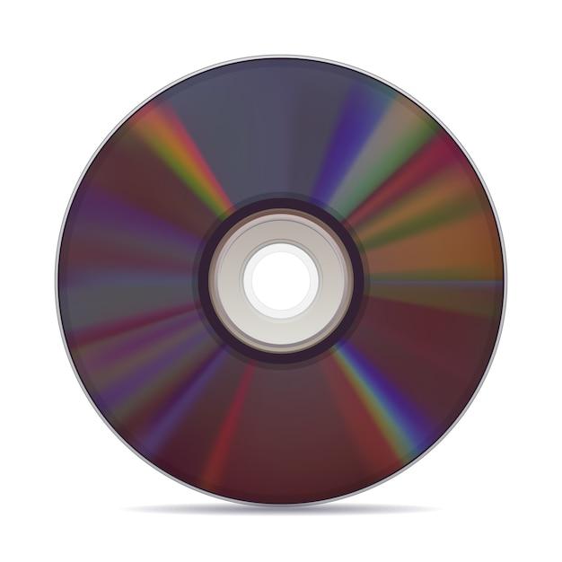 Реалистичные компакт-диск на белом фоне. Premium векторы