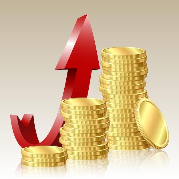 Концепция финансового успеха Premium векторы