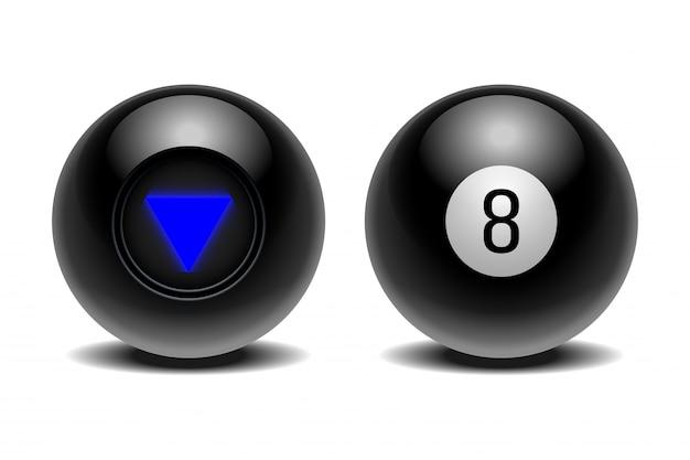 意思決定のための予測の魔法のボール。 Premiumベクター