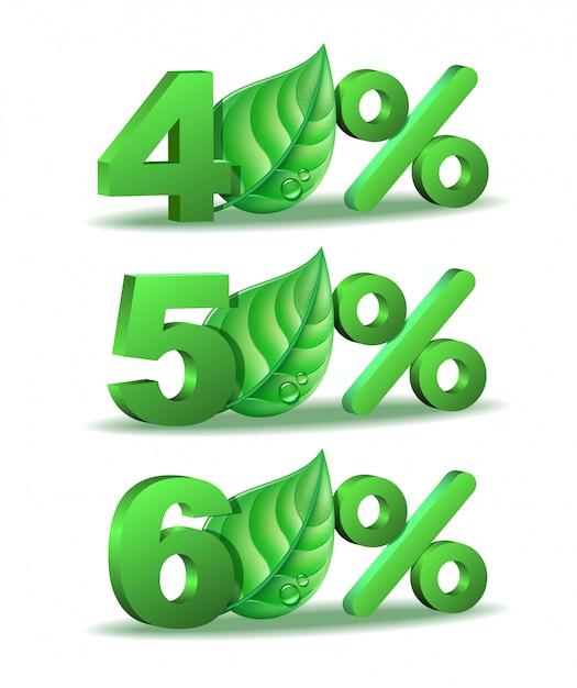 Весенний процент скидка значок Premium векторы