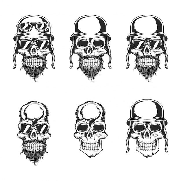 Набор черепов Premium векторы