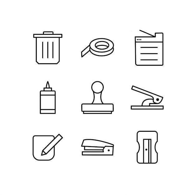 Набор иконок из офиса Premium векторы