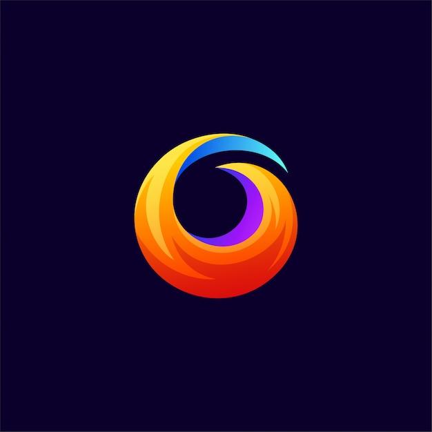 ファイヤーフォックスのロゴデザイン Premiumベクター
