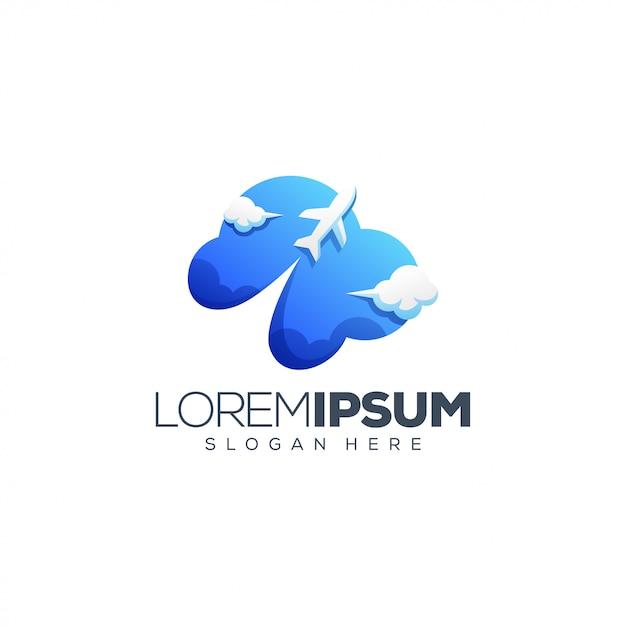 平面ロゴデザイン Premiumベクター