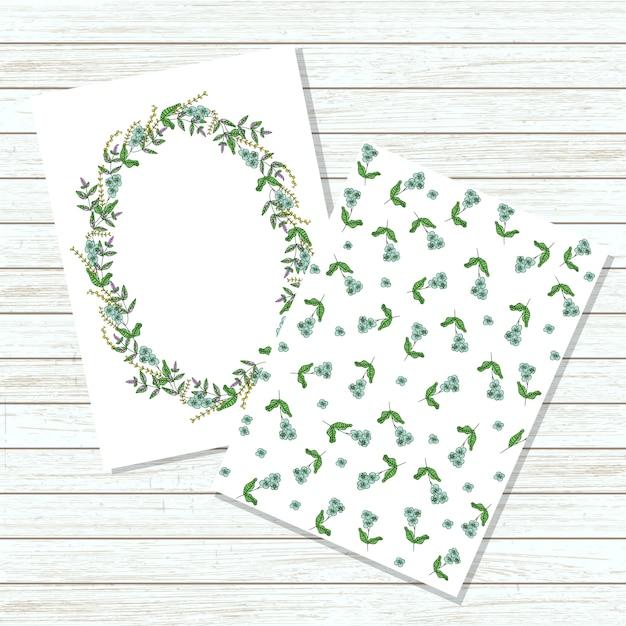 ベクターの花の招待カード Premiumベクター