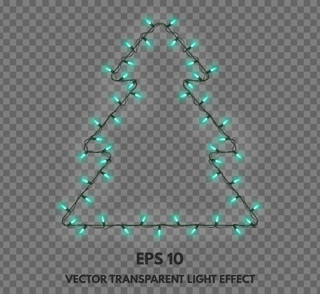 Векторные гирлянды изолированных украшения в виде елки Premium векторы