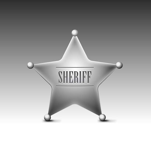 Значок шерифа Premium векторы