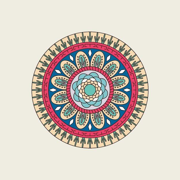 Индийская красочная мандала Premium векторы