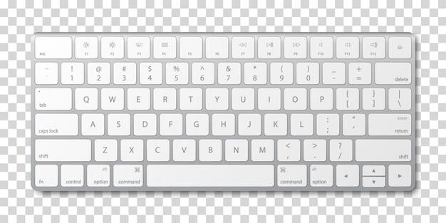 Современная алюминиевая клавиатура компьютера Premium векторы
