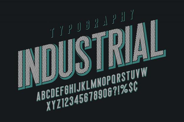 トレンディなビンテージディスプレイフォントデザイン、アルファベット、書体 Premiumベクター