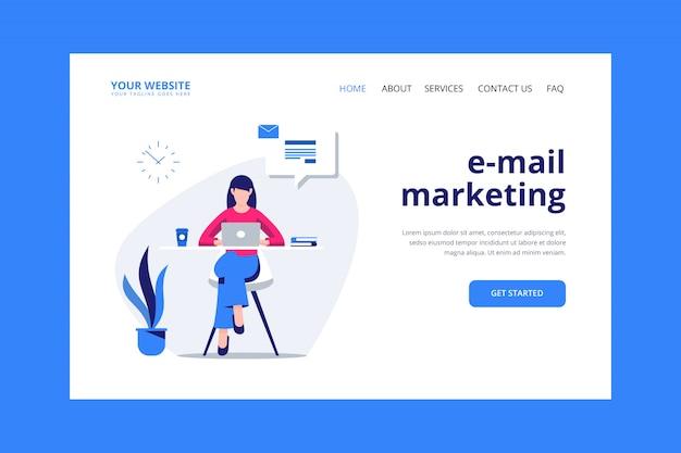 メールマーケティングのランディングページ Premiumベクター