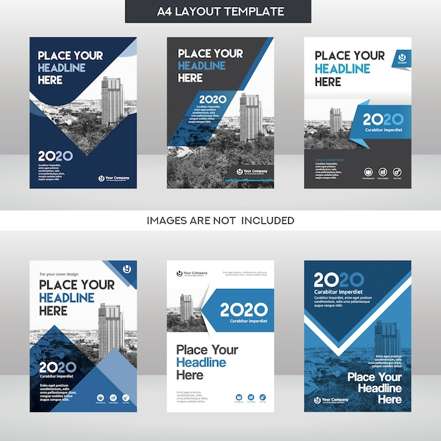 Набор шаблонов для дизайна обложки Premium векторы