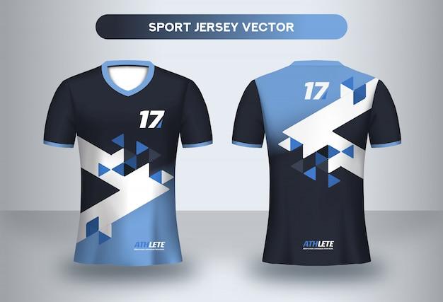 Футбольный шаблон дизайна джерси. фирменный дизайн, футбольный клуб форменной футболки спереди и сзади. Premium векторы