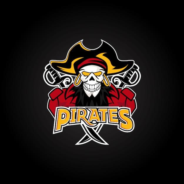 Пираты талисман спорт эспорт дизайн логотипа Premium векторы