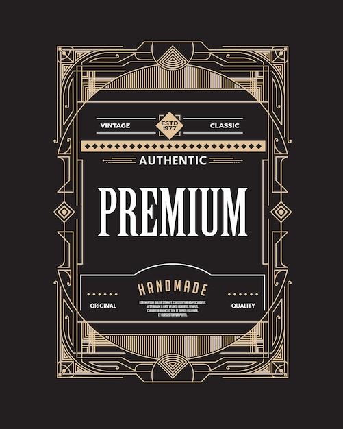 アールデコアートフレーム Premiumベクター