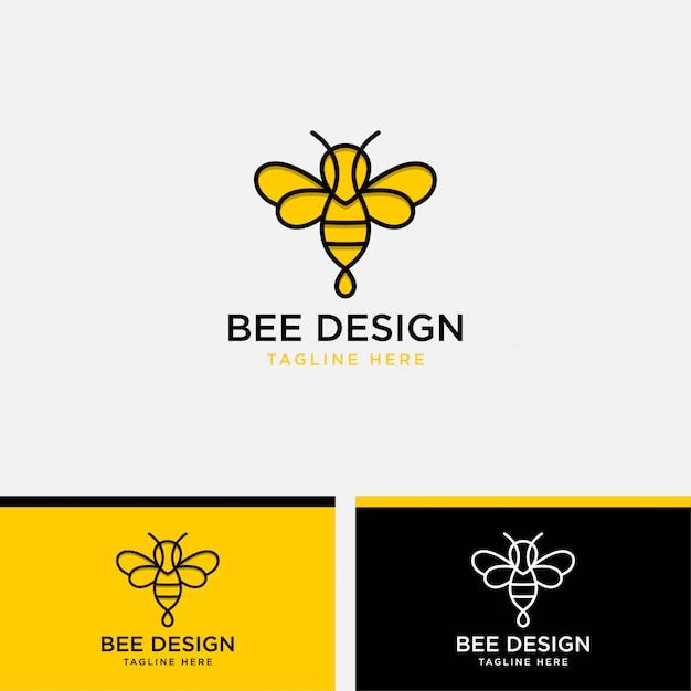 Иллюстрация шаблона логотипа шмеля Premium векторы