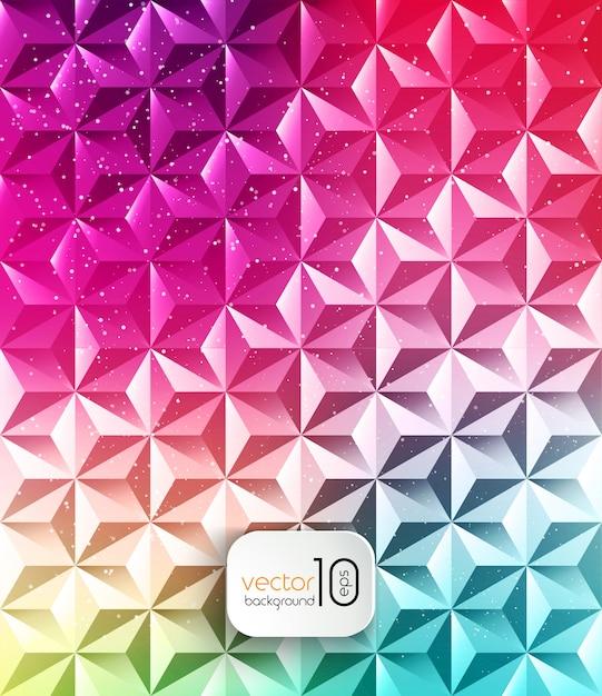 Абстрактный геометрический многоугольной блестящий фон Premium векторы