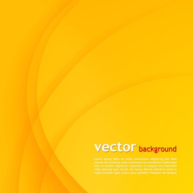 オレンジ色のエレガントなビジネスの背景。 Premiumベクター