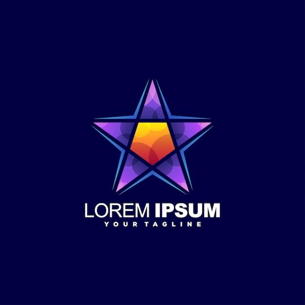 Роскошный шаблон с логотипом звезды Premium векторы