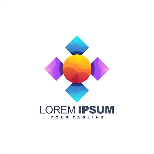 Удивительный медиа логотип шаблон Premium векторы