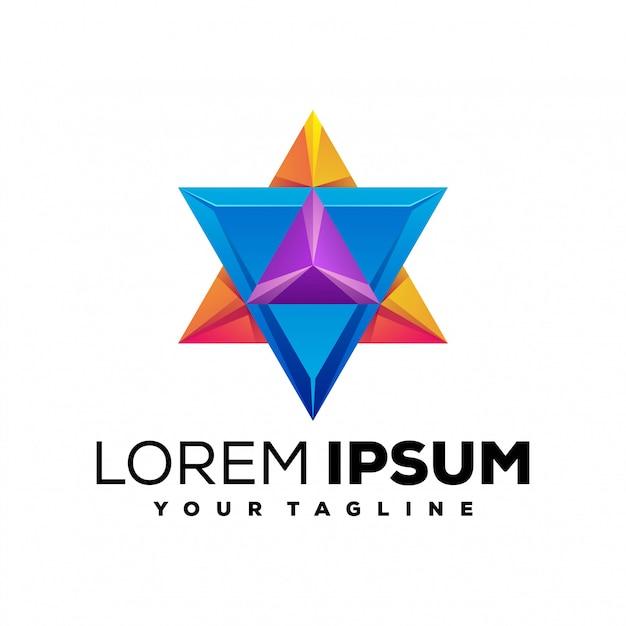 Потрясающая звезда красочный логотип Premium векторы