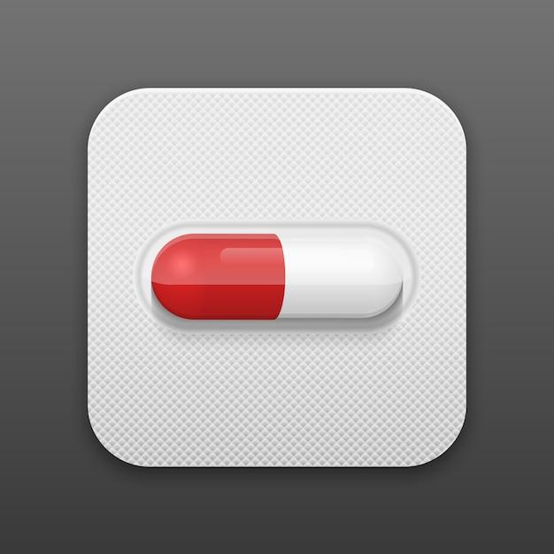 ブリスターパックのベクトル錠剤。 Premiumベクター
