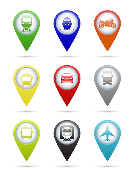 Транспортные указатели Premium векторы
