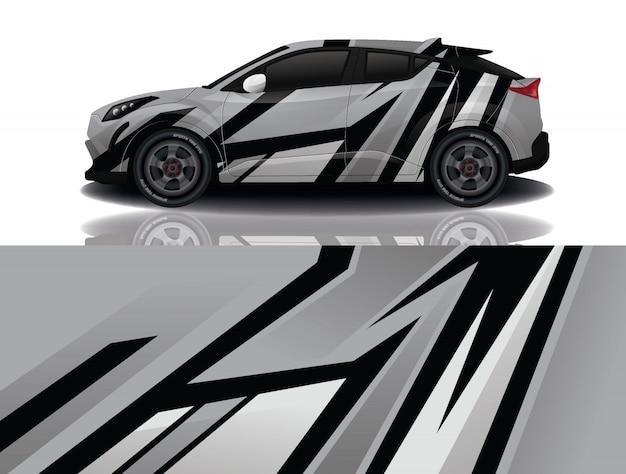 Внедорожник автомобиль наклейка иллюстрация Premium векторы