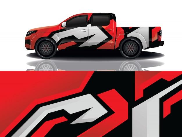 Грузовик автомобиль наклейка иллюстрация Premium векторы